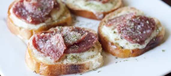 Havarti Salami Crostini
