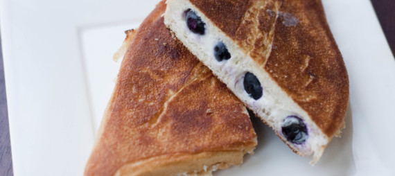 Blueberry Cream Cheese Panini