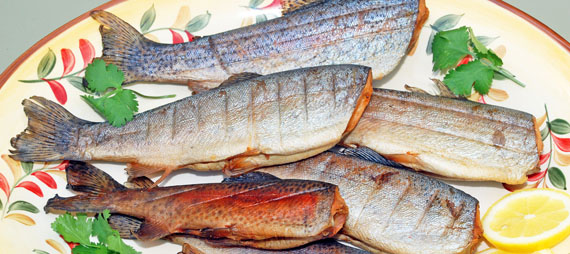 Pecan-smoked Trout