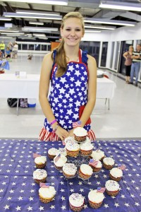 dairy foods contest, kid contest, contest winning cupcake recipe, recipe, cupcakes, vanilla cupcakes, cream cheese icing recipe, recipe, easy recipe, kid friendly recipe, fourth of july recipe, holiday cupcakes, strawberry cream filling, arkansas farm bureau, dairy month, national dairy promotion month, taste arkansas, food