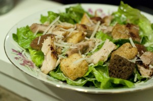 chicken caesar salad, healthy salad, lighter chicken caeser salad, easy 20 minute meal, easy dinner salad, quick dinner recipe, fast dinner recipe, salad recipe, tasty salad recipe, delicious salad recipe, quick salad recipe, family friendly salad recipe, taste arkansas, cooking, food, recipes,