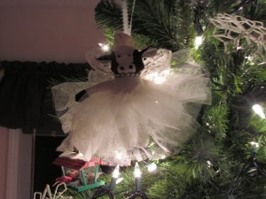 this is a photo of an ornament on susan anglin's tree