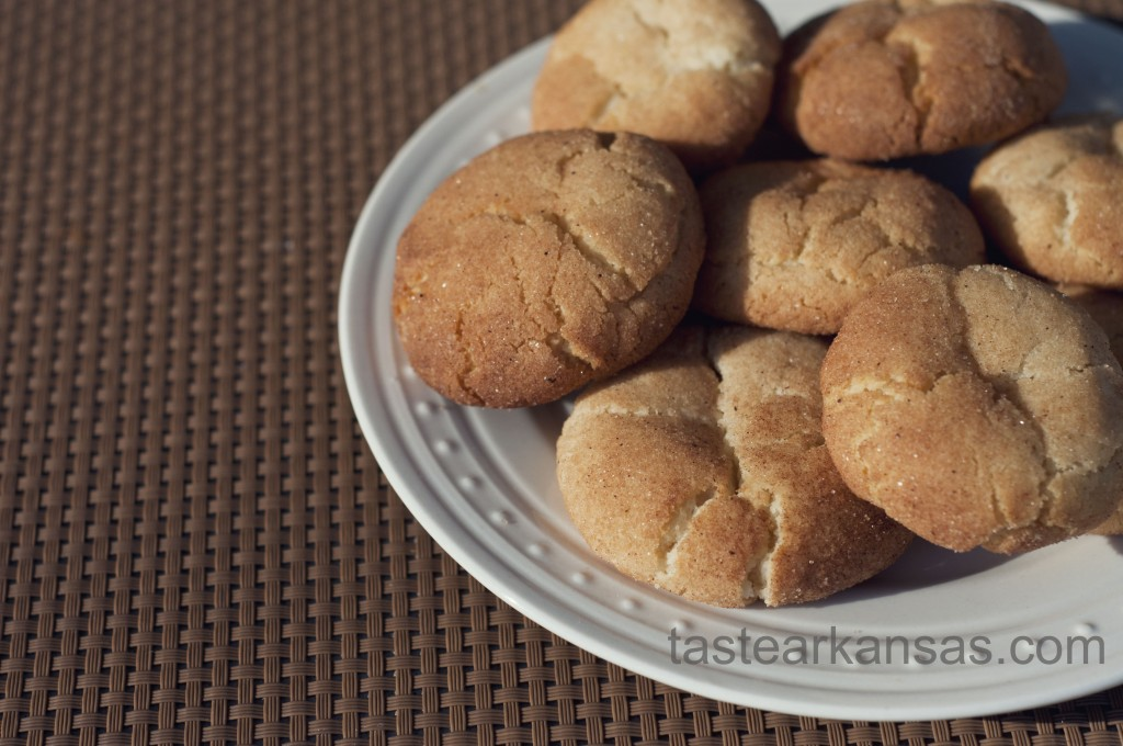 a warm plate of soft chewy snicker doodle cookies