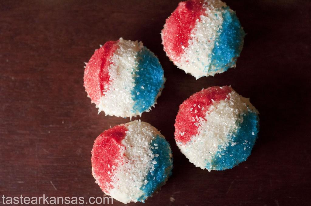 Snow Cone Vanilla Cupcakes