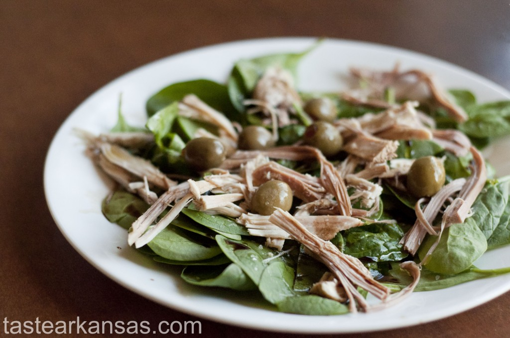Leftover Turkey Spinach Salad