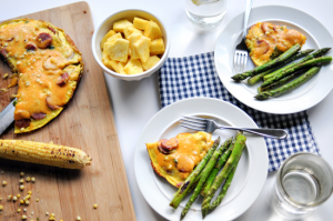 Corn and Smoked Sausage Frittata