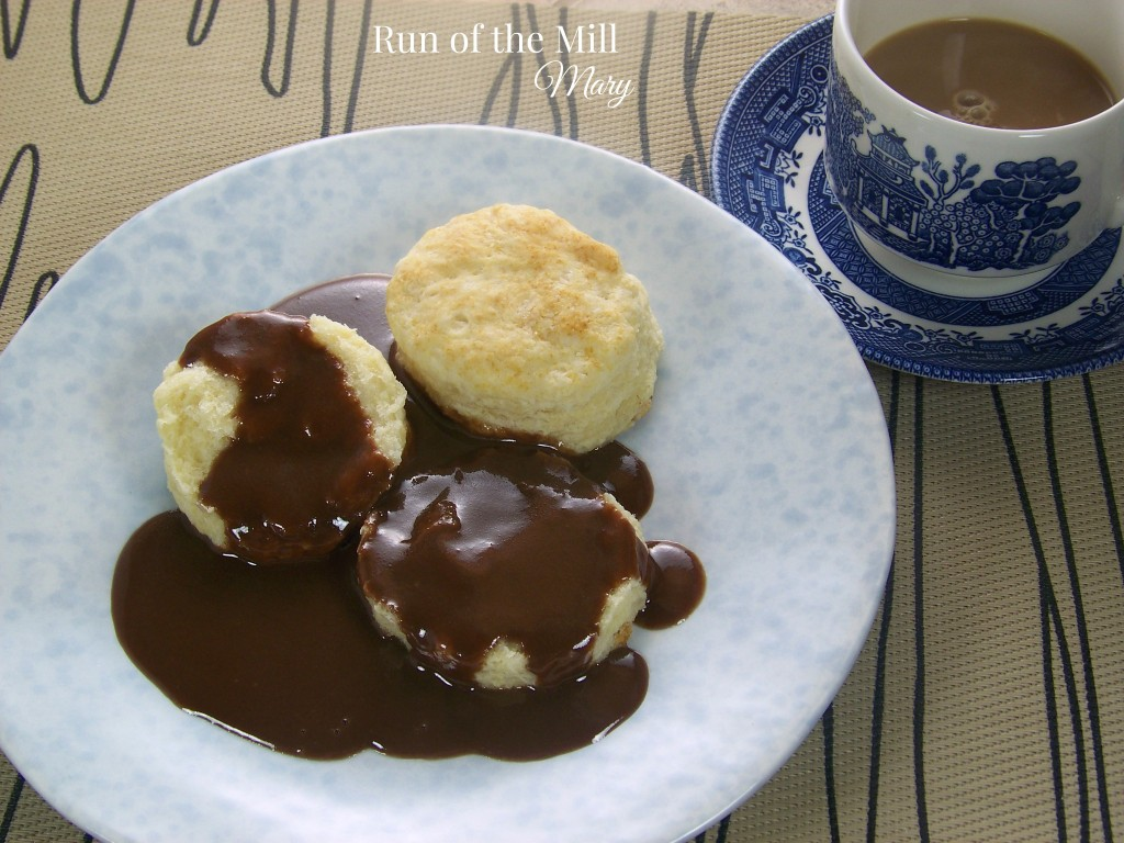 FB chocolate gravy on plate