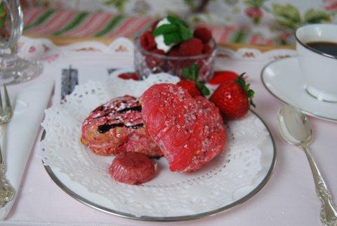 raspberry white chocolate scones diningwithdebbie.net 2