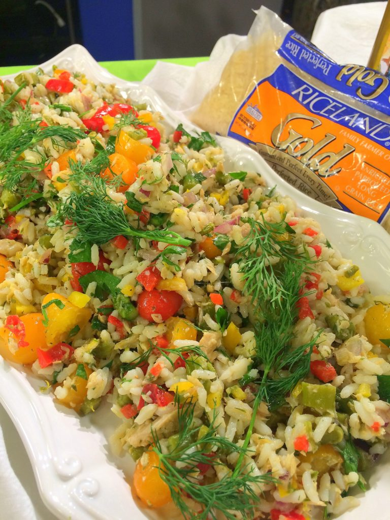 Taste Arkansas Smoked Trout Asparagus Rice Pea Salad Dining With Debbie vert v