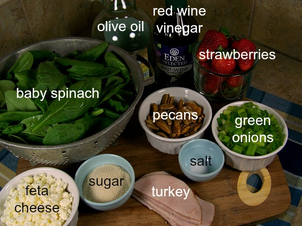 FB roasted strawberry vin. salad pics ingredients