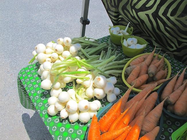 sweet onions at Rogers Farmers Market