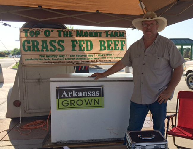 Bart Petray with his Arkansas Grown beef
