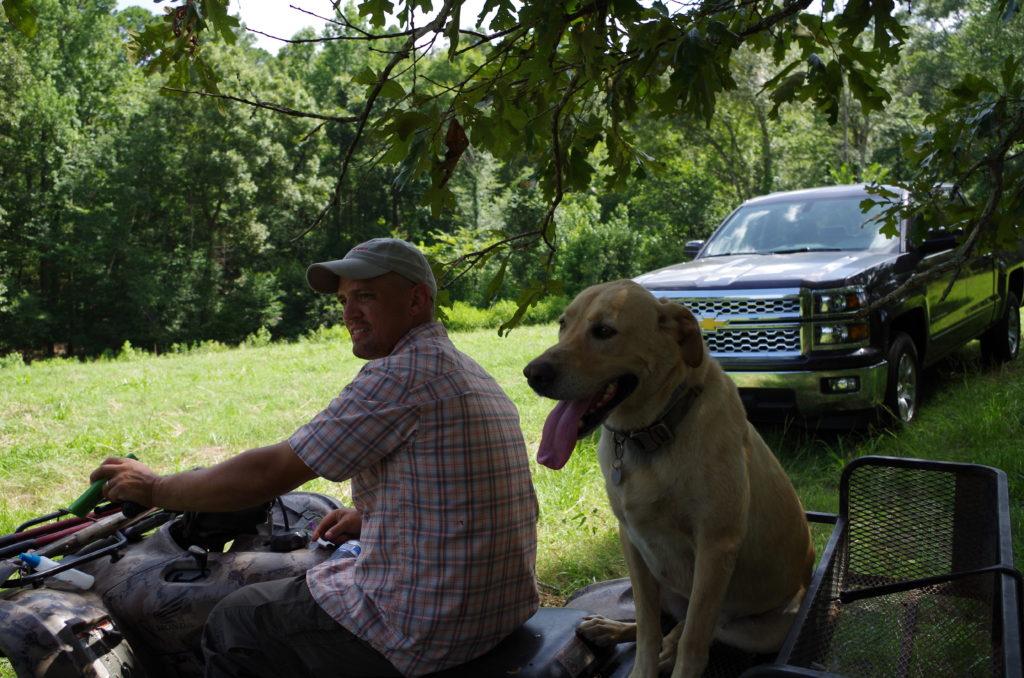 Damon Helton and dog