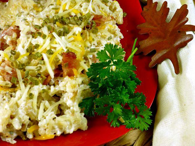 FB Taste Ark Loaded Fried Rice on red plate