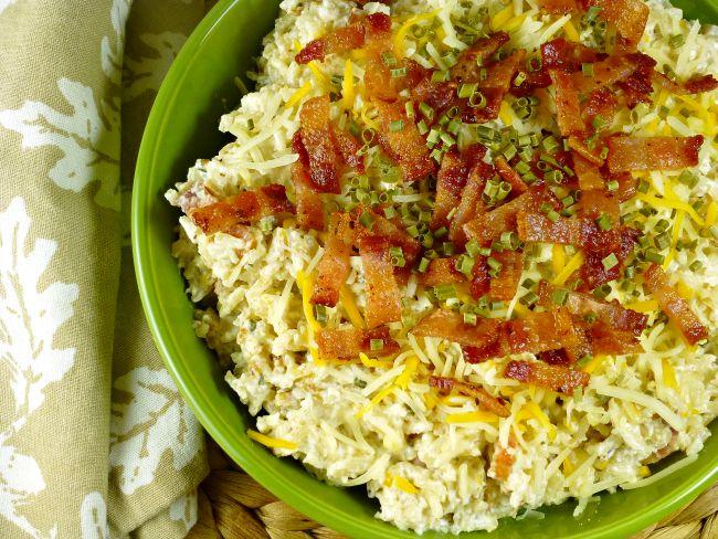 FB Taste Ark Loaded fried rice in green bowl