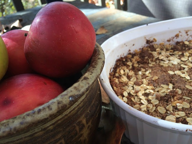 Spiced Apple Crisp dish
