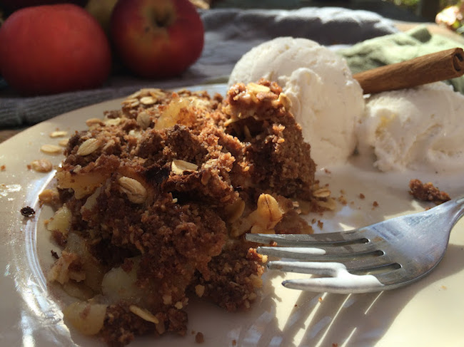 Spiced Apple Crisp with Ice CreamJPG