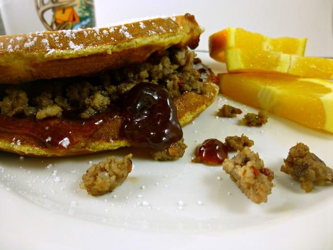 FB venison waffle taco closeup