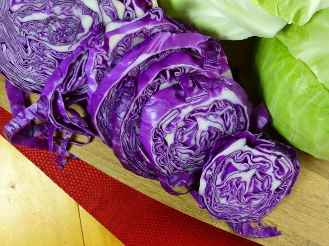 FB TA Cabbage on cutting board