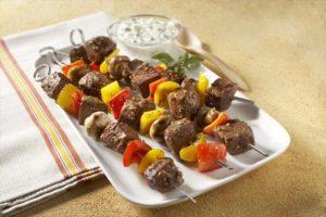 Classic Beef Sweet Pepper Mushroom Kabobs - 4653