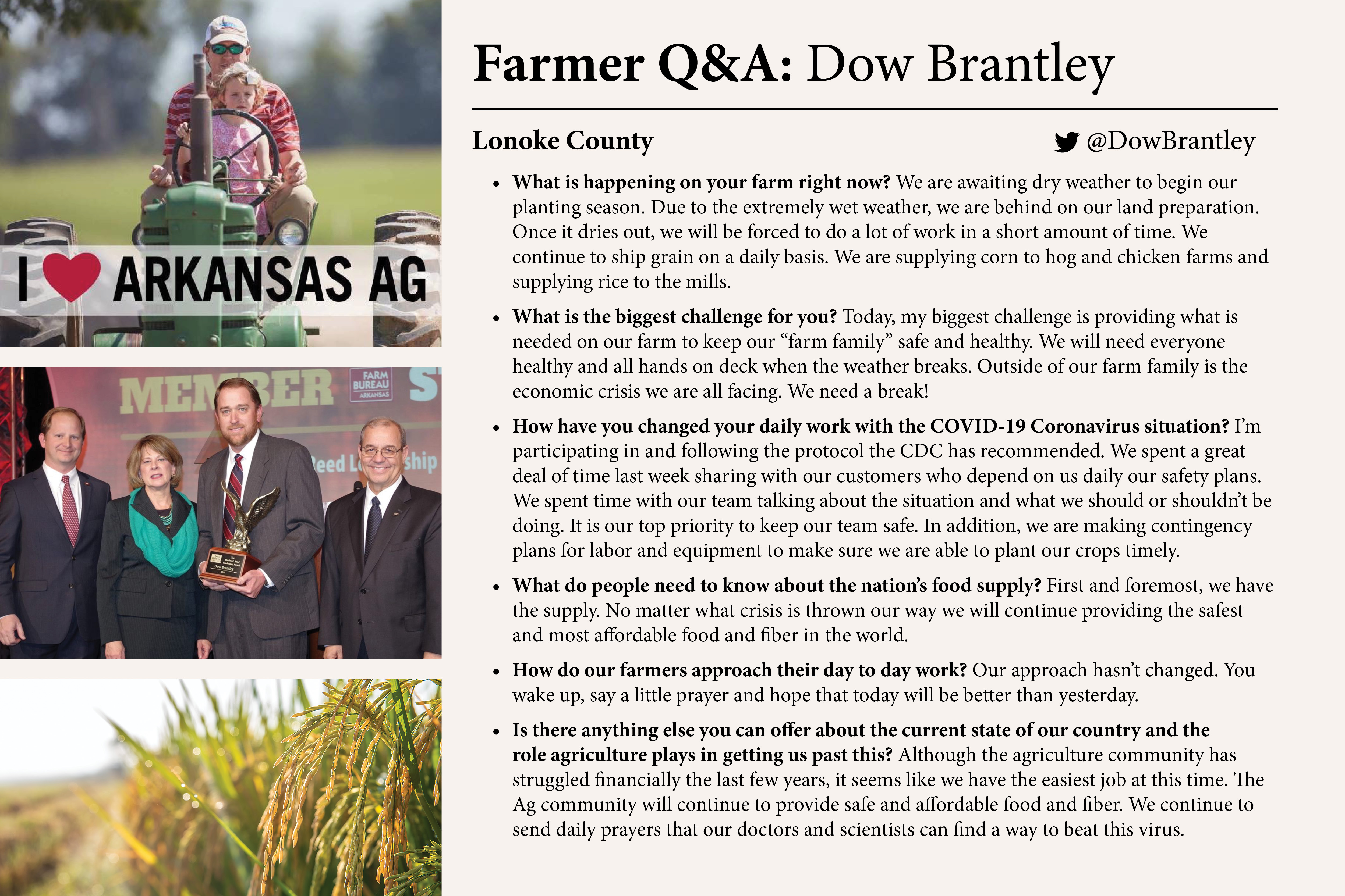 Image with Q&A information on Dow Brantley.